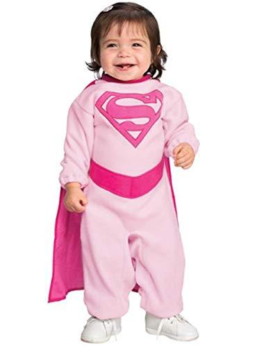Rosa Supergirl-Kostüm für Babys
