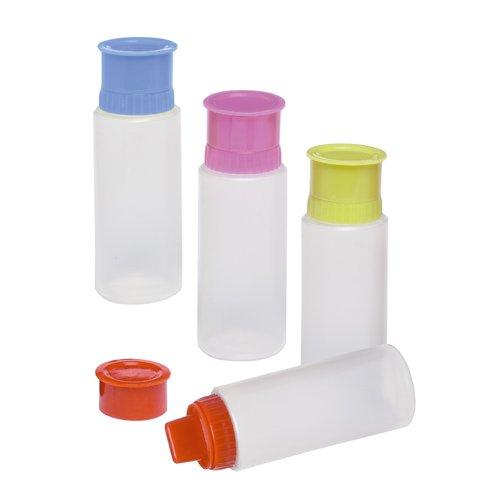 Bottiglia In Plastica Squeeze Decora Torte e Cupcake 5,5x13cm 4 Colori Assortiti