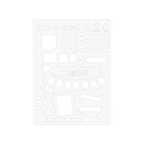 Angel Snow Kostüm - Snow Island Bullet Tagebuch Schablone Kunststoff Planer DIY Craft Zeichnen Vorlage Tagebuch Dekor A5 D