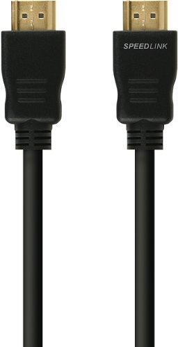 Speedlink HDMI Kabel für XBOX 360 - HD-X High Speed HDMI Cable (für alle HDMI-Anschlüsse - unterstützt HD-Auflösungen von 1080i und 1080p - goldbeschichtete Kontakte für verlustfreie Bildübertragung) 1,5m Kabellänge schwarz