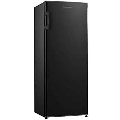 Cookology CTFR235BK Tall Freestanding Larder Fridge in Black | 55x142cm, Metal Back