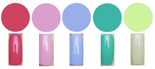 Gel Polish Pastel Lot de 5 vernis à ongles professionnels en gel UV