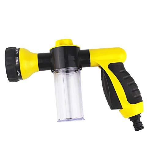 BEENZY Gartenschlauch Düse Schaumsprüher, Hochdruck Einstellbar Schneeseife Autowäscher Wasser Sprayer Gun Kit 8 Muster Einstellbares Muster -
