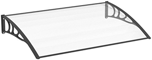 Schulte Vordach Überdachung Haustürvordach 120x80cm Polycarbonat-Hohlkammerplatte klar Kunststoff...