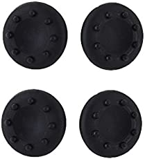 Third Party Xbox 360 PS3 High Quality Anti-Slip Silicone Cap Cover 4 PCS (Black)