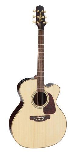 TAKAMINE Pro Series 5p5jc Jumbo cuerpo de guitarra eléctrica acústica con funda, Natural