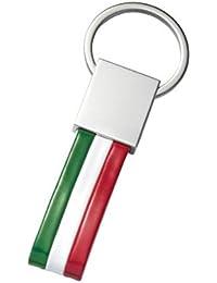 Llavero de bandera italiana - art. EL7643 - Lon. 10 cm - Anc. 3,5 cm - Alt. 0,5 cm - Ten by Varotto & Co.