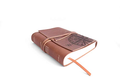 A5 Leder, Tagebuch, Reisetagebuch, Notizbuch, Reisetagebuch, Business-Kladde, Liederbuch, Tagebuch, Rezeptbuch, Poesiealbum, Ideensammlung, Gästebuch