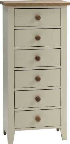 Steens 6-Drawer Narrow Chest, Cream