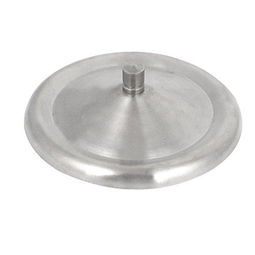 sourcingmap 10,2cm Durchmesser runde Form Haus versiegelt Getränk Becher Deckel Silber Ton