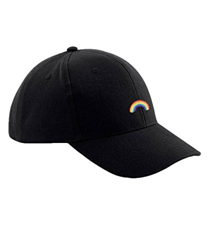 Preisvergleich Produktbild Ulterior Clothing Rainbow Moji Embroidered Baseball Cap