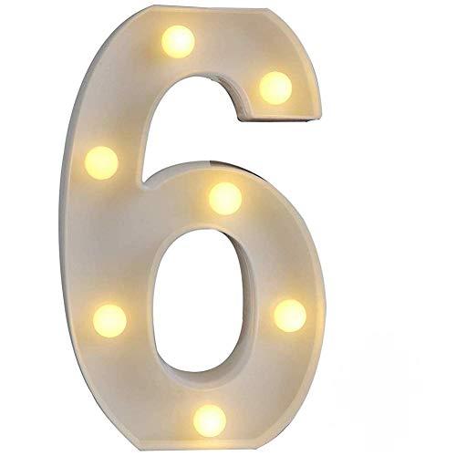 LED Alphabet Buchstabe Lichter Brief Nummer Licht Dekorationen Nachtlichter für Geburtstag Party Hochzeit Sophie Adila (Ohne Batterie) (6)