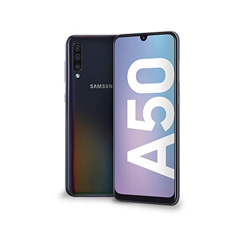 samsung galaxy a50 display 6.4, 128 gb espandibili, ram 4 gb, batteria 4000 mah, 4g, dual sim smartphone, android 9 pie, (2019) [versione italiana], nero.