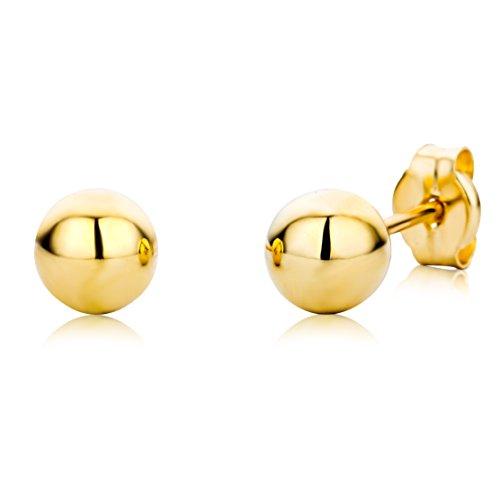 Miore Ohrringe Kinder Mädchen Gelbgold 18 Karat / 750 Gold Ohrstecker Kugel