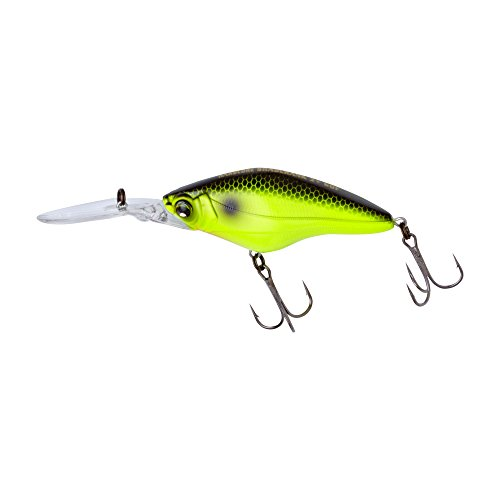 Yo-Zuri r1186-blcl Duell Hardcore shadcrank 3 + 60 F Floating Lure, Chartreuse Schwarz -