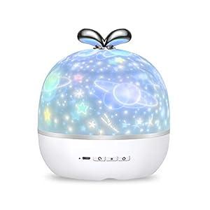 KASTEWILL Sternenhimmel Projektor Lampe, 360°Drehbare Baby Nachtlicht LED Sternenprojektor Licht 6 Thema Szene 6 Modi…