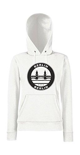Kapuzenpullover für Frauen - Berlin Berlin Weiß