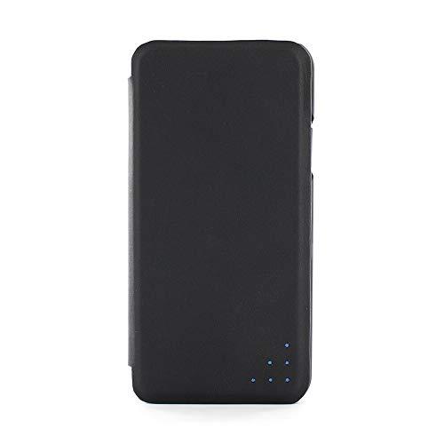 """Proporta® Carbon Opus Apple iPhone X/XS (5.8"""" Zoll) Folio Etui, Echtleder Klapp-Hülle mit Carbonfaser-Inlay, Polykarbonat Schutzschale und Standfunktion Bezug aus Leder, Schwarz"""