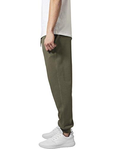 URBAN CLASSICS Pantaloni in felpa uomo sportivo Basic Sweatpants TB1582 Olive