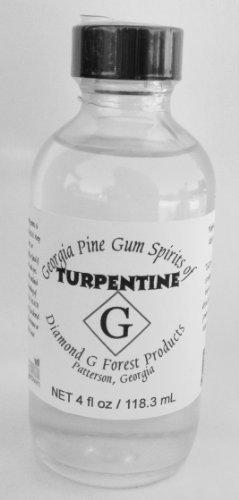 Reines Gummi (Diamond G Forest Spirits of Terpentin Flasche mit 100% reinem Gummi, 118 ml)