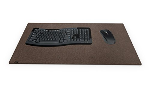 Designer Filz Schreibtischunterlage braun in XXL (ca. 40x80cm groß). Originelle Schreibunterlage - besonders weich und komfortabel. Die coole Alternative zur Papier- oder Leder Schreibtischunterlage.