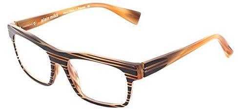 Alain mikli occhiali da vista invitation 0a01103 brown striped black uomo