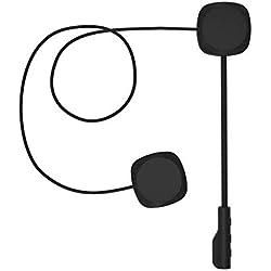 BEST4U Bluetooth 5.0 Casque de Moto Casque Audio, Anti-interférences Casque de Moto Intercom de Casque sans Fil Bluetooth Headset, Casque écouteurs, Haut-parleurs Mains Libres