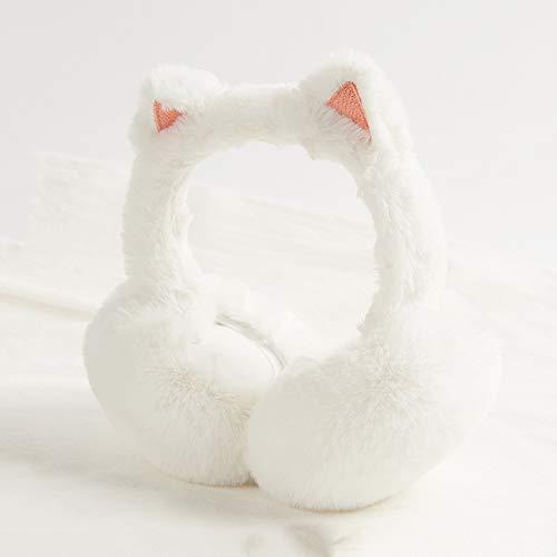 Huacang cute paraorecchie orecchie di gatto cuffie antirumore pieghevoli invernali fredde e calde cuffie da running da campeggio (colore : rosa)