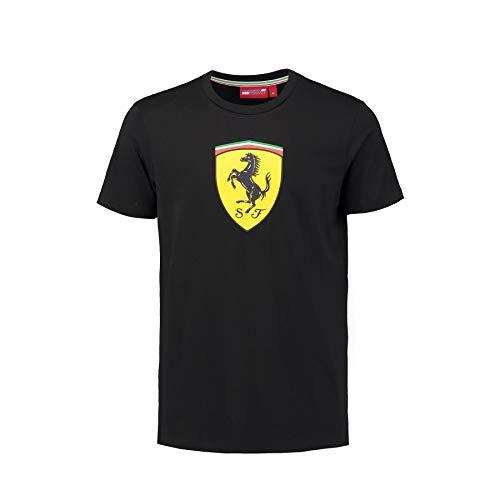 Scuderia Ferrari Camiseta Oficial Clásica Negra XL