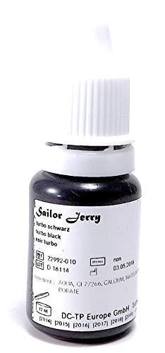 SAILOR JERRY TURBO BLACK 10ml - deutsche Tattoofarbe mit Zertifikat - INKgrafiX® IG42224 Tattoo INK Schwarz