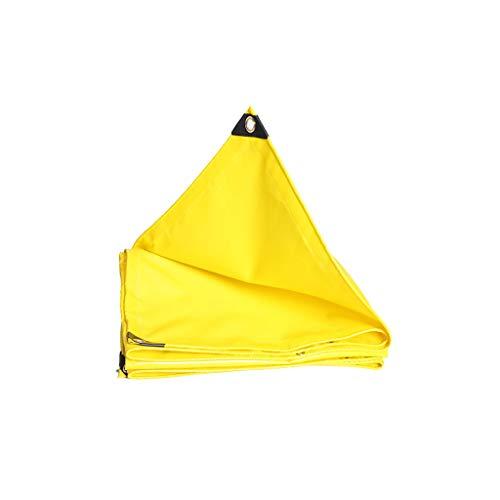 Lhr wasserdichte Abdeckplane Vele Sonnenschutz Sonnenschutz Außenschild Auto Wasserdichtes Tuch Sonnenschutz DREI Tuch 2-6M Gelb 4 * 4m