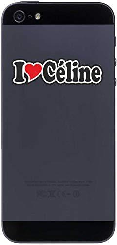 Aufkleber - I Love Heart - Decal Handyaufkleber Handyskin 50 mm Ich Liebe - Name (Mann, Frau, Kind, Junge, Mädchen) - I Love Céline