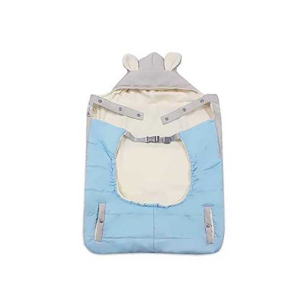 SONARIN All Seasons Weather Thick Cover for Baby Carrier,Cloak for Winter Warm,Fit Any Baby Carrier,Windproof,Waterproof(Blue) SONARIN Material:The designer carefully selects high-quality polyester, and the inside is made of cotton velvet, which is windproof and warm. Size: 60*58CM (23.6*22.8 inches). Applicable to All:Front or backpack carrier or hipseat carrier. This baby carrier cover is easily to snaps onto any baby carrier. It can also be used as a blanket, quilt with baby stroller. Quality and Design:The cloak has two openings that allow the baby's feet to stretch.The cover can be adjusted according to each baby's body shape.Big convenience pocket keeps parent's hands warm and it's roomy enough to easily keep the daily things such as cell-phones, keys and so on. 1
