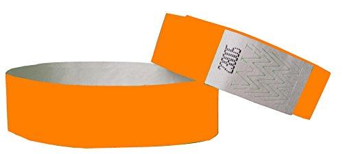 tyvek-wristbands-3-4-inch-100-pack-orange-waterproof-duarable-security-numbered-orange-3-4-inch-x-10