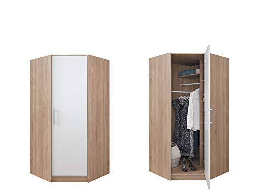 furniture24_eu Eckschrank Eckkleiderschrank Schrank Kleiderschrank SMART SR-4 / SRN-4 (Schrank ohne Aufsatz)