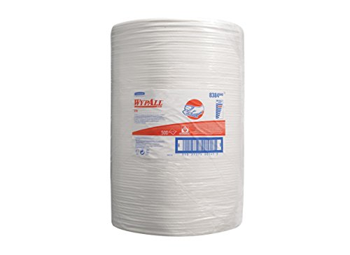 WYPALL X70 Hydroknit Cloths (product code 8384) Single roll of 500 white 1 ply sheets