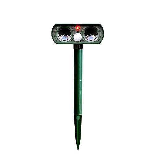 JXHD Repelente Solar/Repelente De Olas Acústicas para Jardines De Huertos Agrícolas para Ahuyentar Roedores, Pájaros, Jabalíes, Conejos,Green