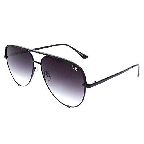 Quay Eyewear Unisex-Erwachsene Sonnenbrille High Key, Schwarz (Black/Fade), 150