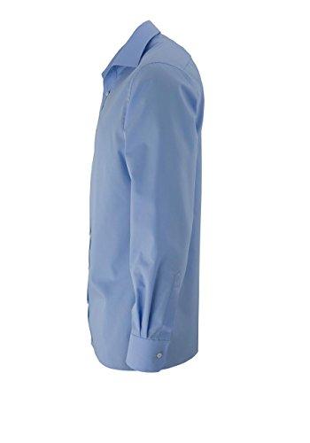 ETERNA Langarm Hemd COMFORT FIT Popeline unifarben Blau