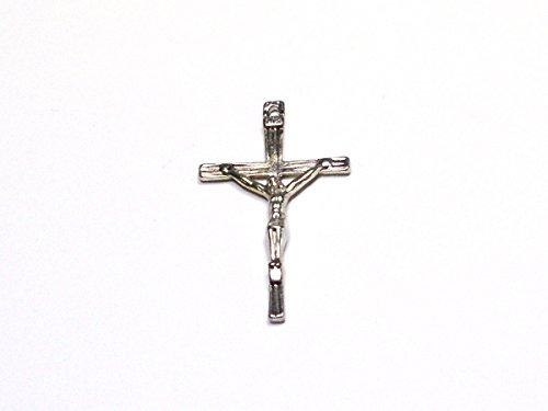 2 Charms Anhänger Kreuz Kruzifix 45x25 mm Silber A03207 (Drache Charm-armband)