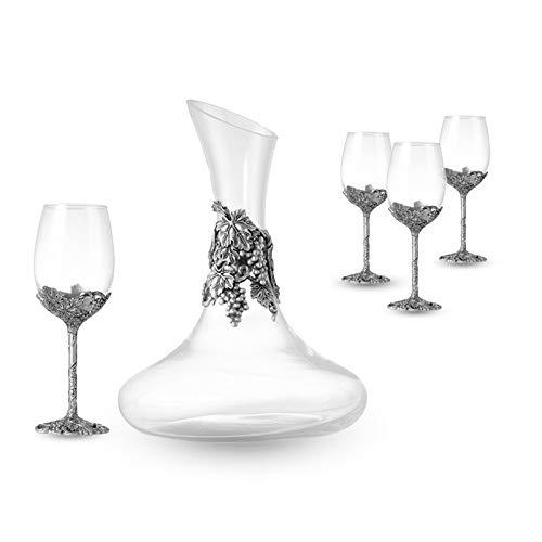 Loroude Rotweinglas Antike Zinn Weinglas Set Becher Wein Hause High-End-praktische, 52x35x22cm