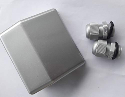 Spark Doppel-Kabeleinführung, wasserfest, ABS-Anschlussdose für Kabeltypen 4 mm bis 12 mm, Solarpanel, Wohnmobil, Wohnmobil, Wohnmobil, Boot, Satelliten-Antennen, Schwarz/Weiß (Silber) -