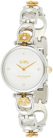 Coach Women's Silver White Dial Stainless Steel With Ionic Plated Tumbled Gold 1 Watch - 1450