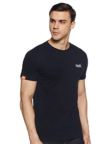 Superdry Herren ORANGE Label Vintage EMB Tee T-Shirt, Blau (Eclipse Navy 98T), Medium
