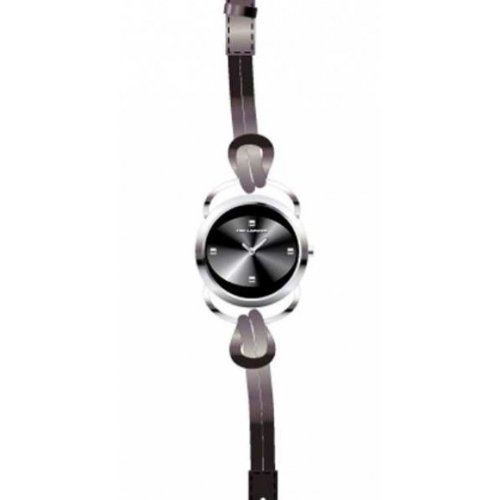 Ted Lapidus A0365RNPN - Reloj de mujer de cuarzo, correa de piel color negro
