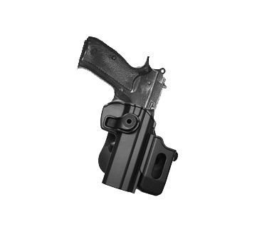 CZ 75 SP-01 Shadow, CZ75 SP-01 Tactical, CZ75 Compact, CZ75D Compact Polymer Retention Roto Holster with Detachable Mag Pouch by IMI-Defense -