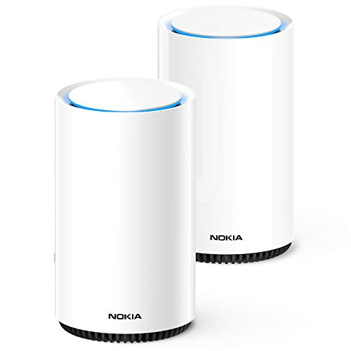 Price comparison product image Nokia WiFi Beacon 3 Router System - Intelligent,  Seamless Whole Home WiFi Coverage Extender - Connect Your Whole House Wifi Network,  ULTRA FAST Self-Healing Mesh Router System - Duo (2-pack)