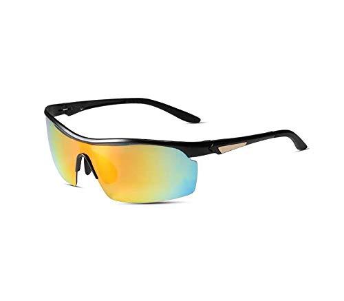HongTeng Sonnenbrille Mann Reiten Fahren Reisen Outdoor Sports Winddichte UV-Brille (Farbe : Bright Color)