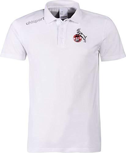 uhlsport Fußball FCK 1. FC Köln Essential Polo Shirt Fanshirt Herren weiß Gr L