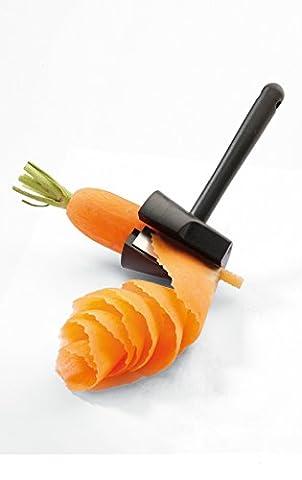 Maxs Entonnoir en acier inoxydable légumes trancheuse spirale Ensemble coupe-légumes spirale